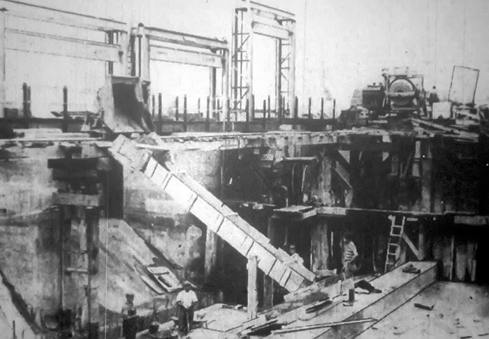 The rebuild of Orton Staunch in early 1939